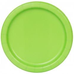 20 piattini in carta - verde