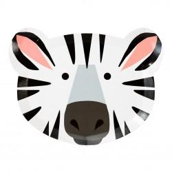 12 piattini zebra/tigre