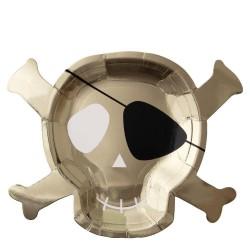 8 piatti pirata oro