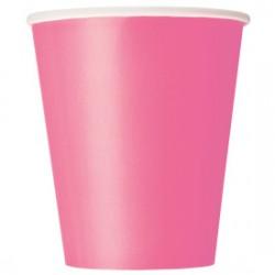 14 bicchieri di carta - fucsia