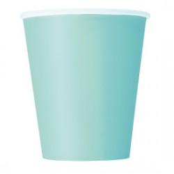 14 bicchieri di carta - verde menta