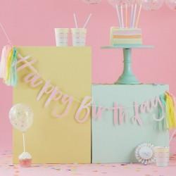BANNER HAPPY BIRTHDAY iridescente con nappine