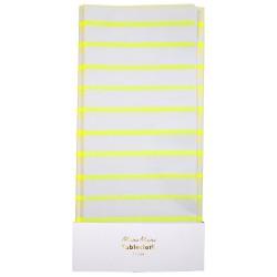 tovaglia di carta riga giallo fluo