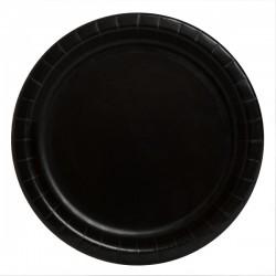 20 piattini in carta - nero