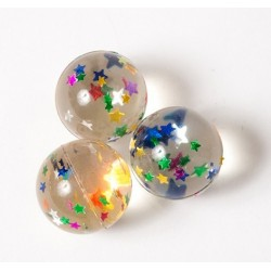 12 palline rimbalzanti stelle glitter