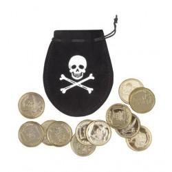 sacchetto pirati con 12 monete d'oro