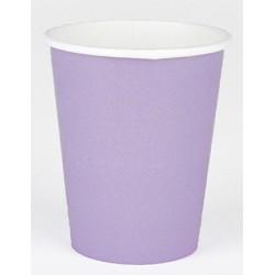 8 bicchieri di carta - lilla