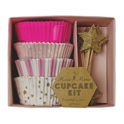 Pink cupcake kit 'toot sweet'