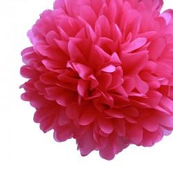 POM POM in carta rosa (Ø 40cm)