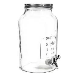 Barattolo in vetro per bibite (con erogatore), capacità 5,5 L