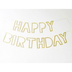 ghirlanda HAPPY BIRTHDAY glitter oro