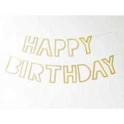 GHIRLANDA HAPPY BIRTHDAY glitter oro