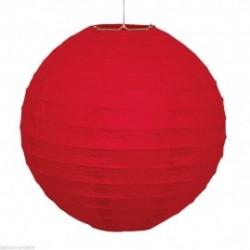lanterna di carta rossa diametro 25 cm
