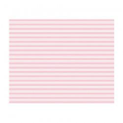 tovaglia a righe rosa e bianche, 2,60 x 1,37 cm