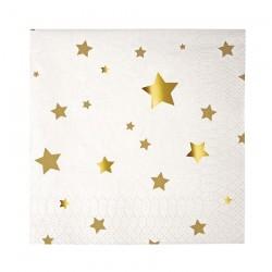 16 tovaglioli piccoli stelle oro