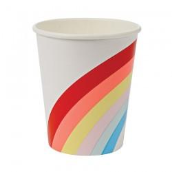 8 bicchieri arcobaleno