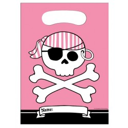 8 party bags 'pink pirate'
