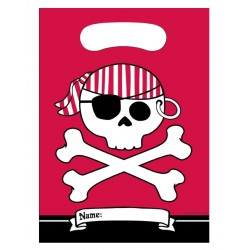 8 party bags 'red pirate'