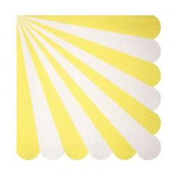 20 tovaglioli grandi righe gialle