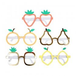 10 paia di occhiali in cartoncino a tema frutta