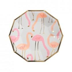 8 Piattini Flamingo