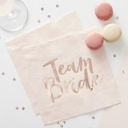 20 Tovaglioli Team Bride Rose Gold