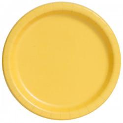 20 piattini in carta - giallo