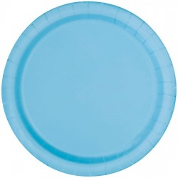 20 piattini in carta - azzurro