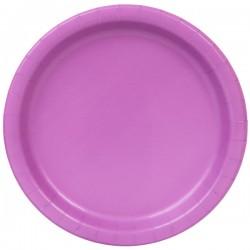 20 piattini in carta - viola