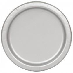 20 piattini in carta - argento