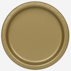 20 piattini in carta - oro