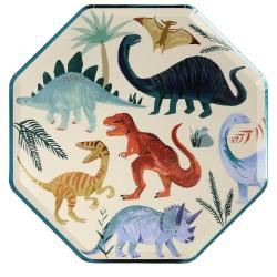 8 piatti dinosauri