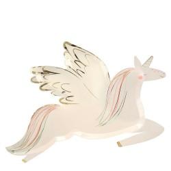 8 piatti unicorno