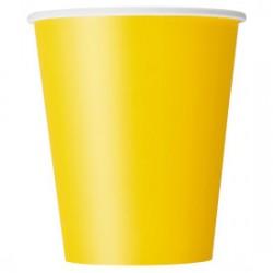 14 bicchieri di carta - giallo