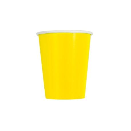 """14 bicchieri di carta - giallo """"babyshower"""""""
