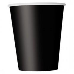 14 bicchieri di carta - nero