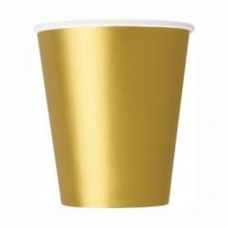 14 bicchieri di carta - oro