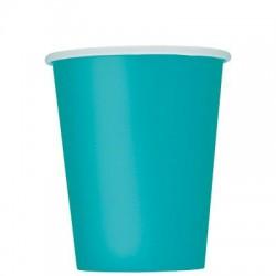 14 bicchieri di carta - turchese