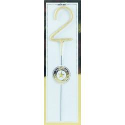 """candela scintillante gold """"2"""""""