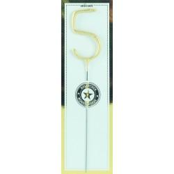 """candela scintillante gold """"5"""""""