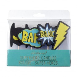 set candele supereroi