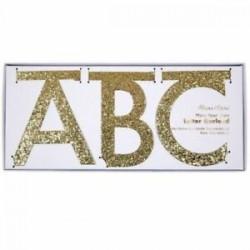 letter banner componibile glitter oro