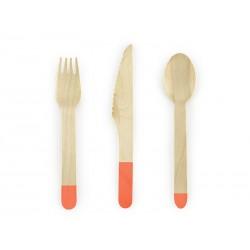 Set posate in legno arancio