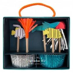 24 Cupcake kit Sea