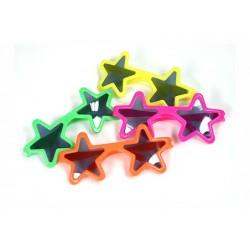 12 occhiali stella in 4 colori