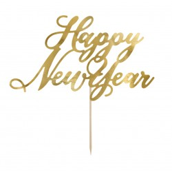 topper cartoncino HAPPY NEW YEAR oro