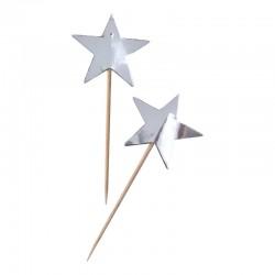12 STECCHINI stella argento