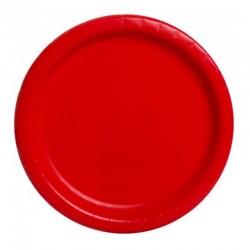 20 piattini in carta - rosso