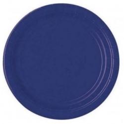 20 piattini in carta - blu navy