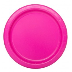 20 piattini in carta - neon pink